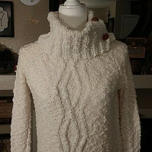 Anthropologie Sweaters - Anthropologie Moth off-white chunky sweater